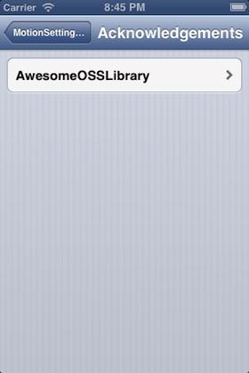 screenshot2 of motion-settings-bundle