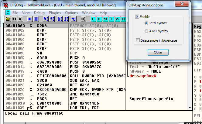 Intel Syntax