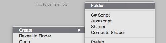 Creating a folder in Unity