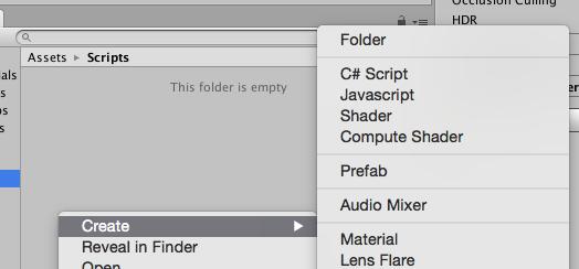 Creating a new C# script