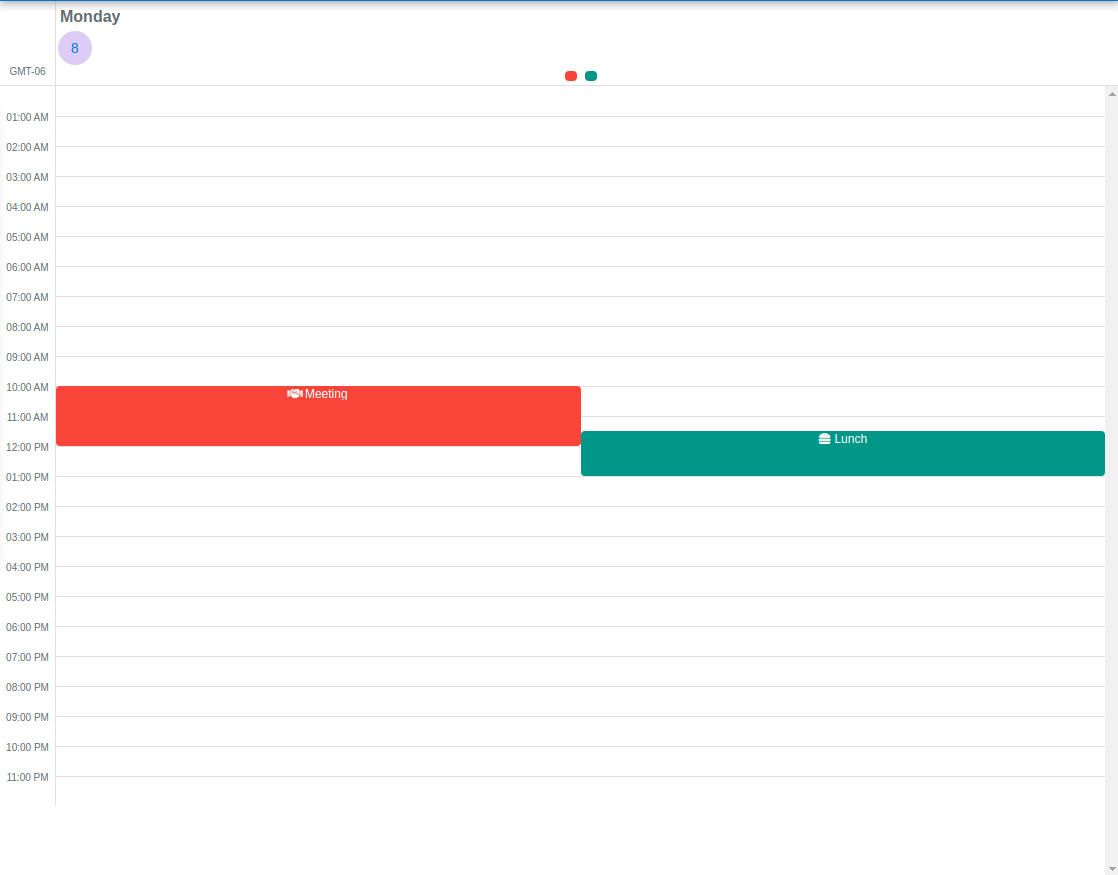 QCalendar example planner