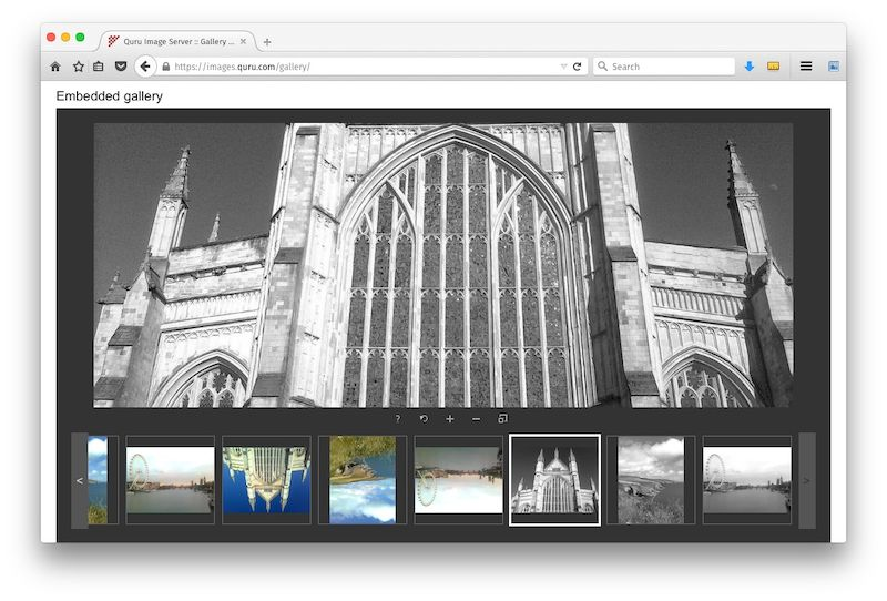 Embeddable gallery component