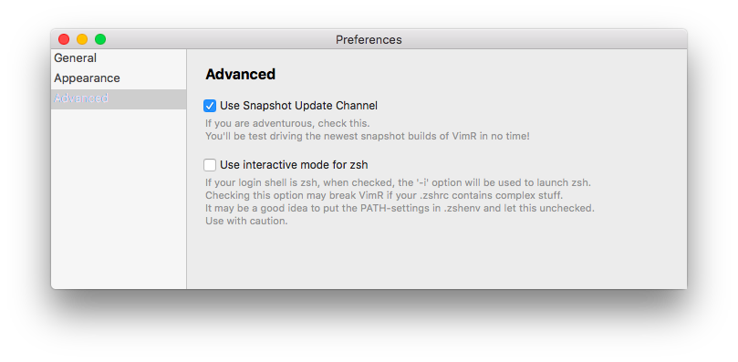 Use Snapshot Update Channel