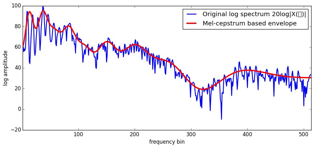 mel-cepstrum based envelope.