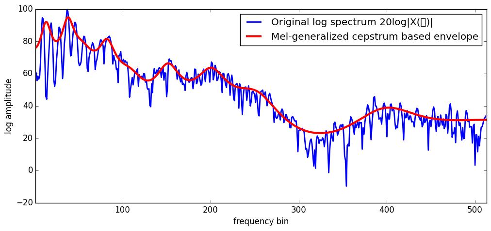 mel-generalized-cepstrum based envelope.
