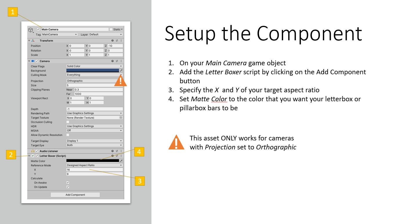 Setup the Component