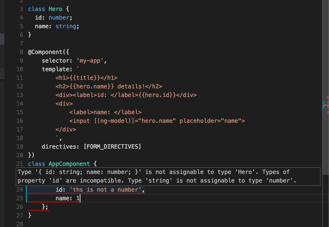 TypeScript compilation error