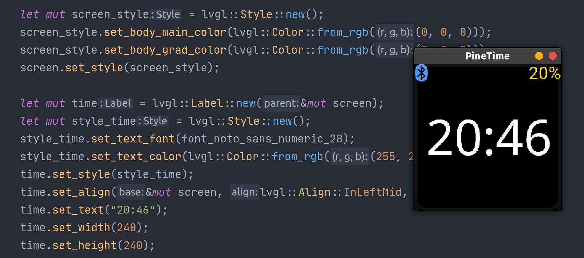 Rust bindings usage demo code.