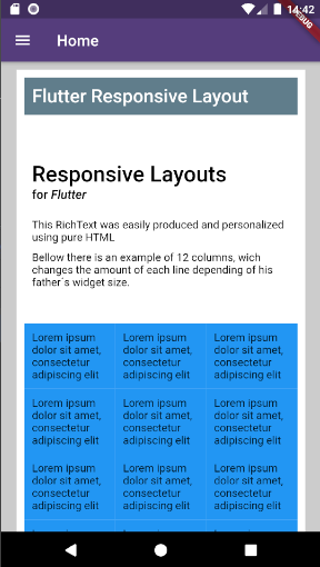Responsive Layouts and Text for Flutter
