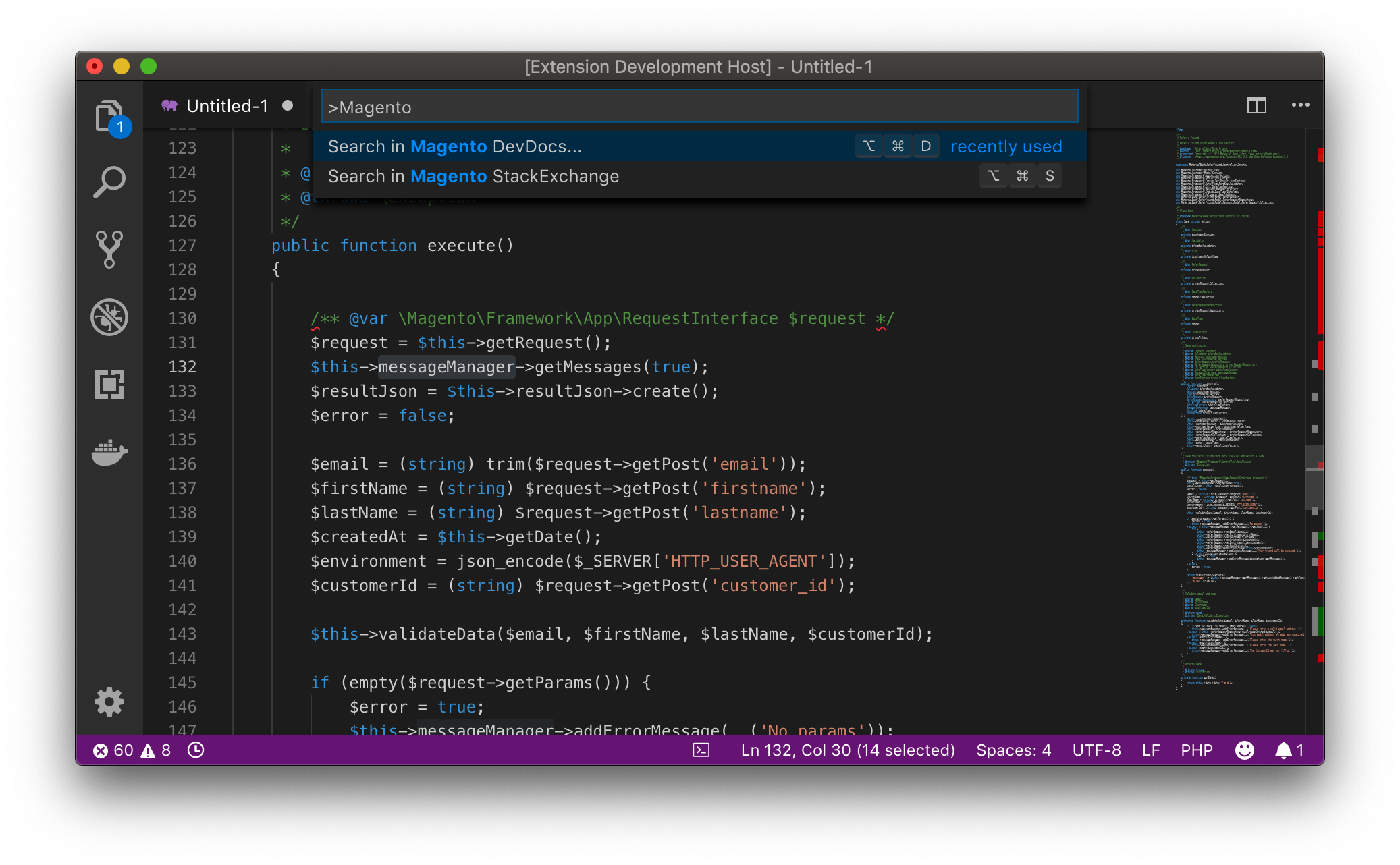 Magento DevSearch VisualStudioCode