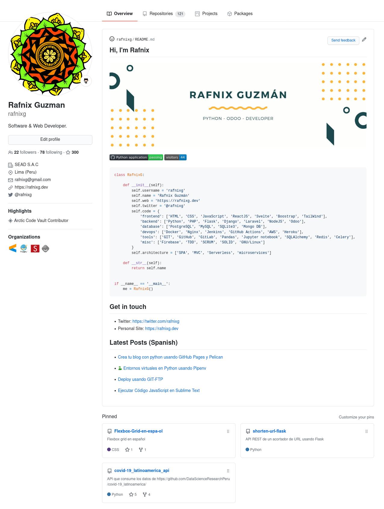 rafnixg github profile