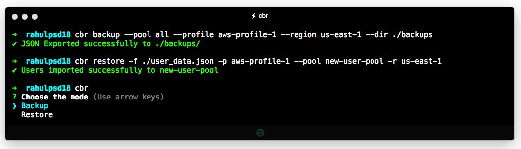 Image showing CLI Usage