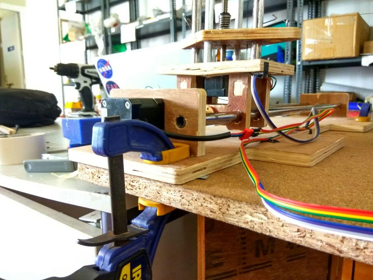 4 axis foam cutter assembly