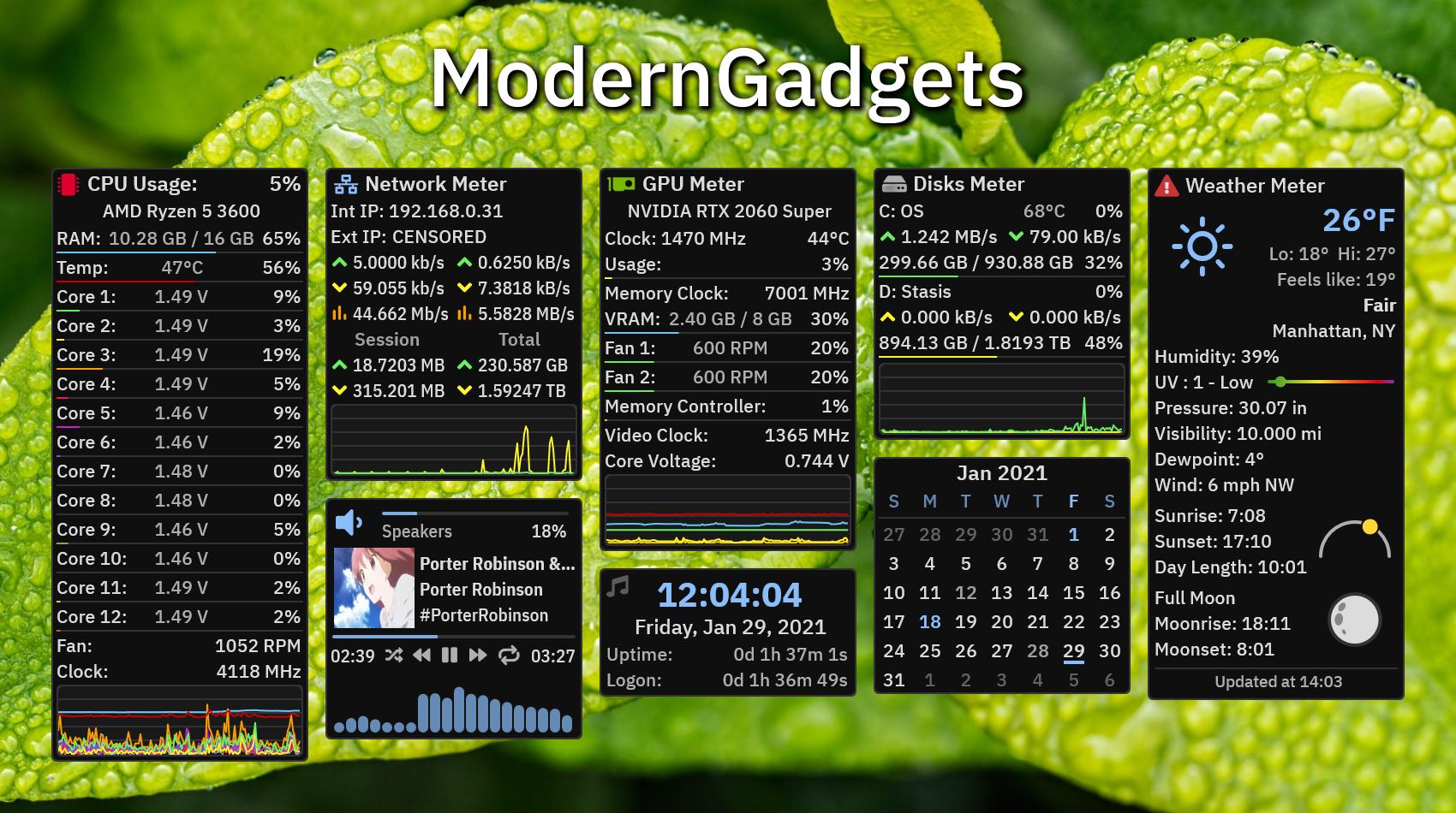 ModernGadgets 1 5 1 - Rainmeter Forums