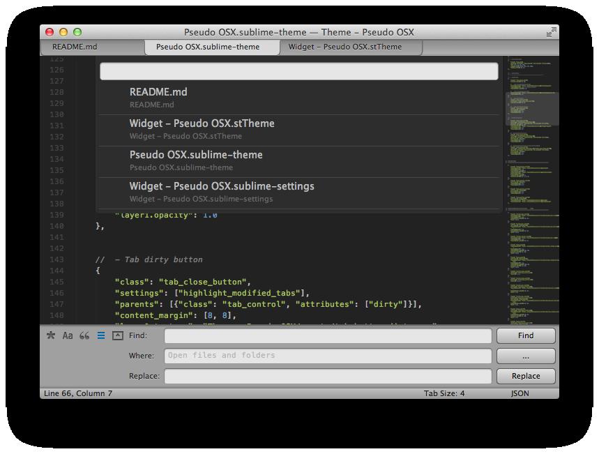 Pseudo OSX theme