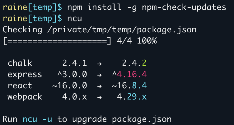 npm-check-updates-screenshot