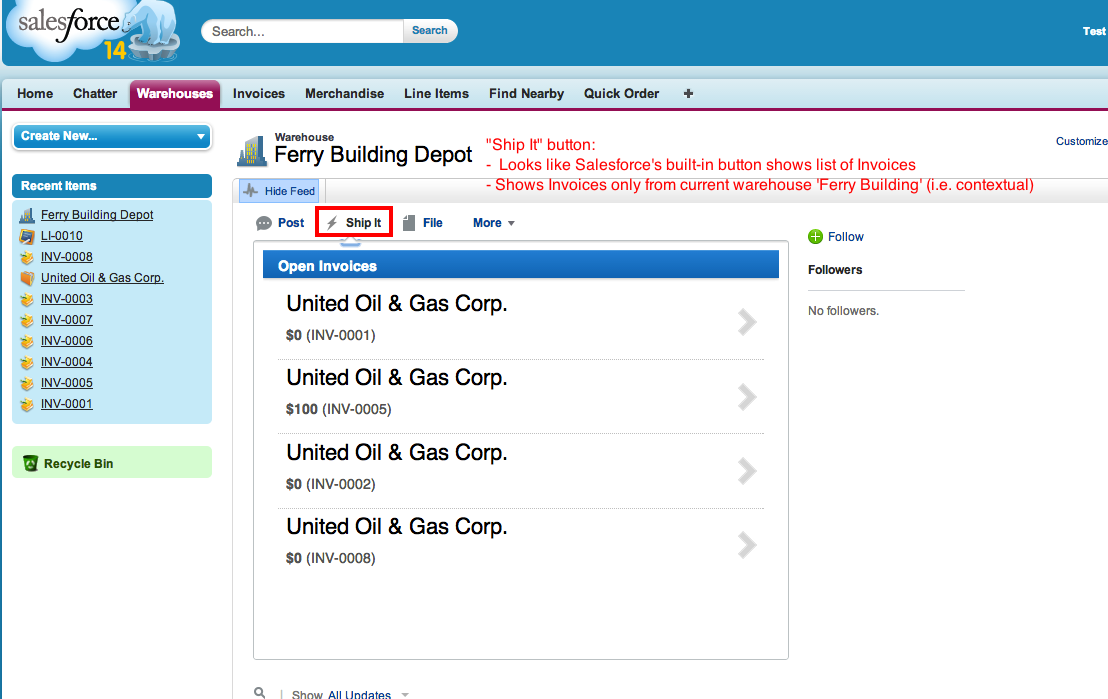 GitHub ForcedotcomShipifyNodeApp - Salesforce invoicing app