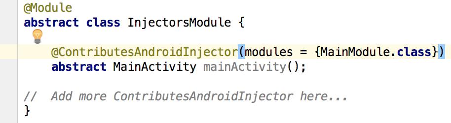 Injectors Module Demo