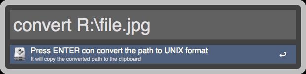 convert to UNIX