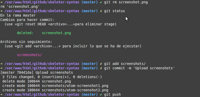Zsh screenshot 1