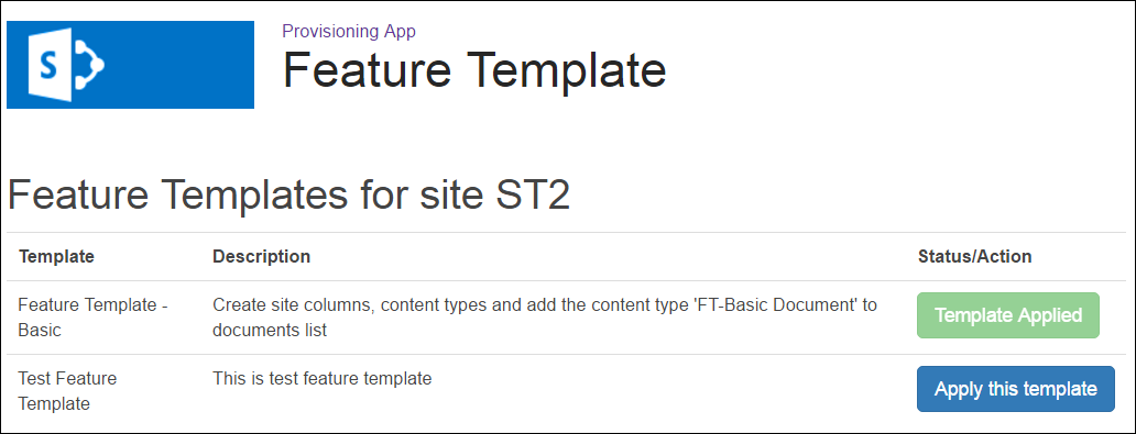 Feature Template