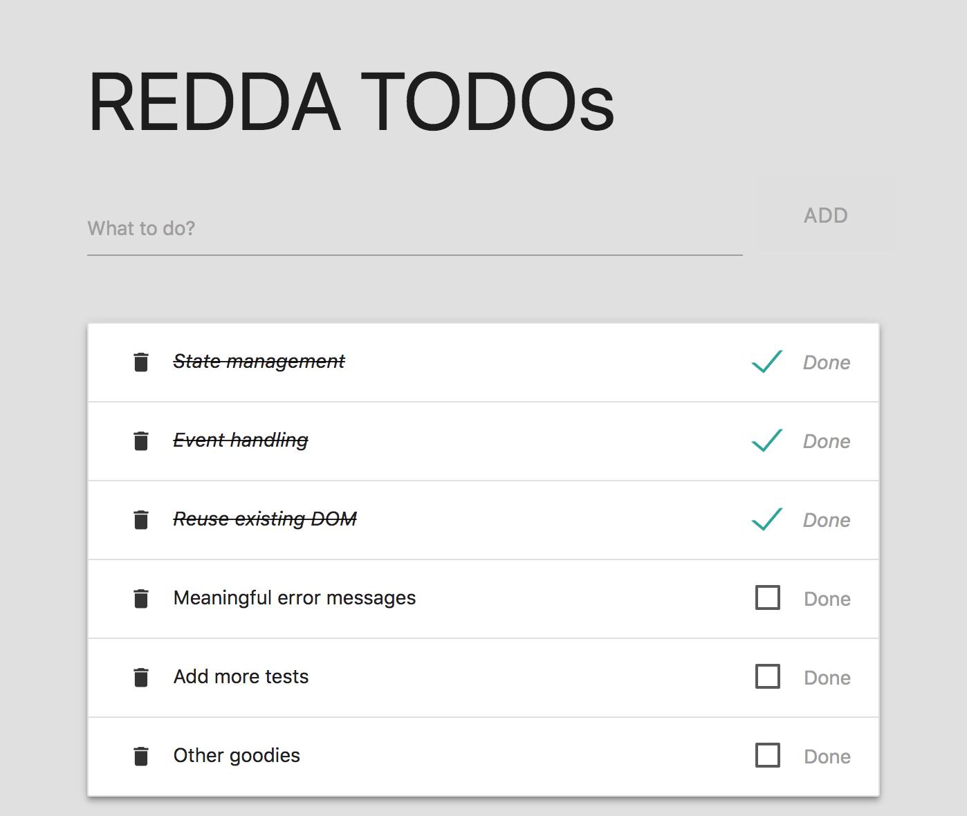 Screenshot of TODOs demo