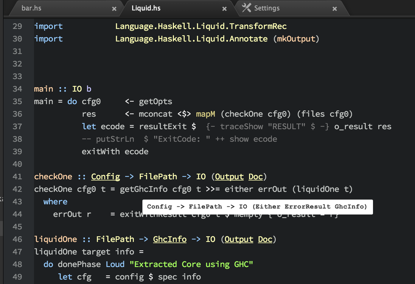 Screenshot of hover-tooltips-hdevtools