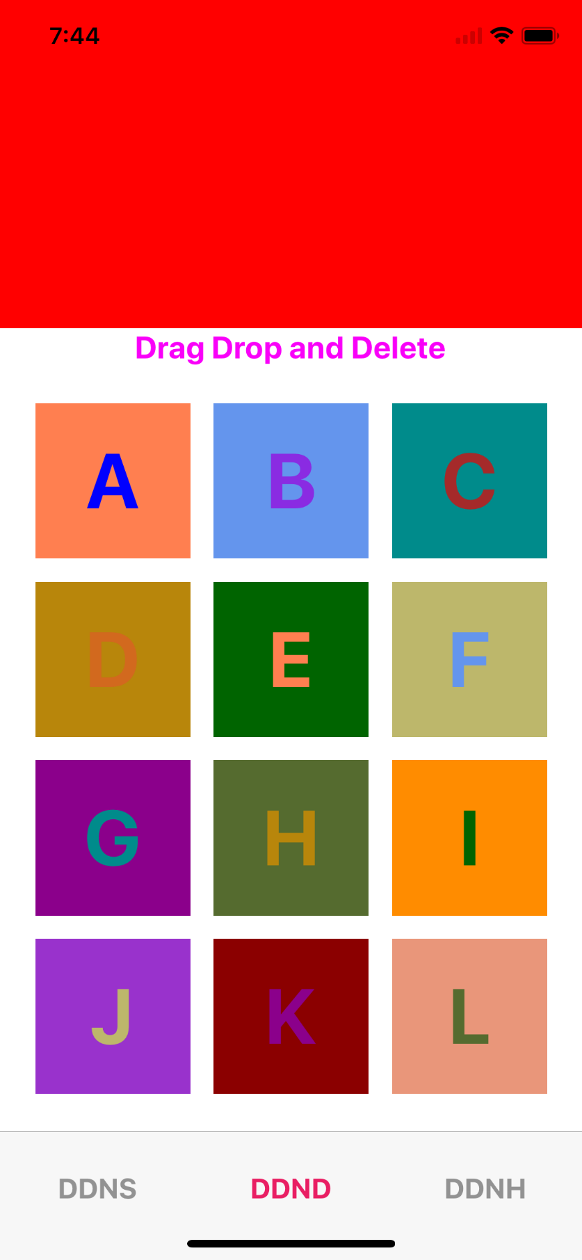 drag drop and delete