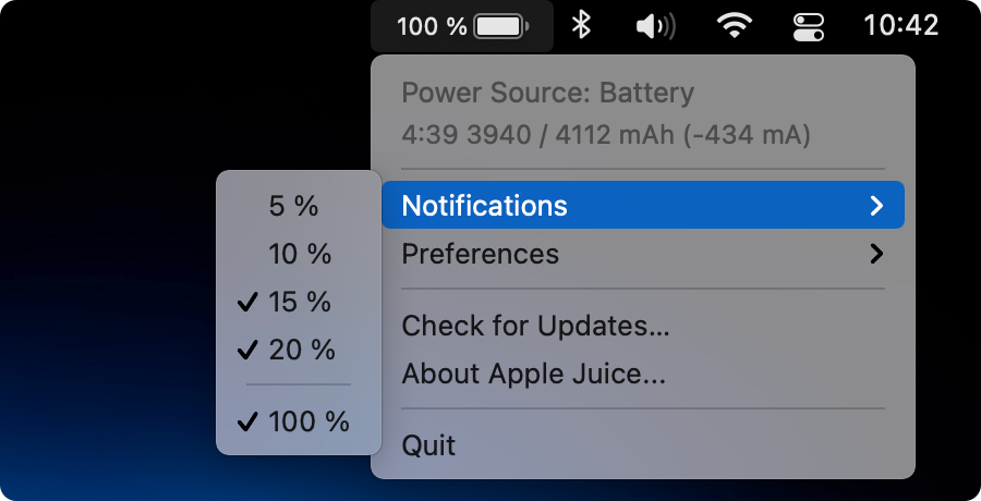 Apple Juice Notifications