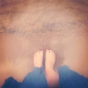 Dipping my toes in Lake Michigan