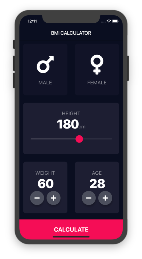 Flutter BMI Calculator