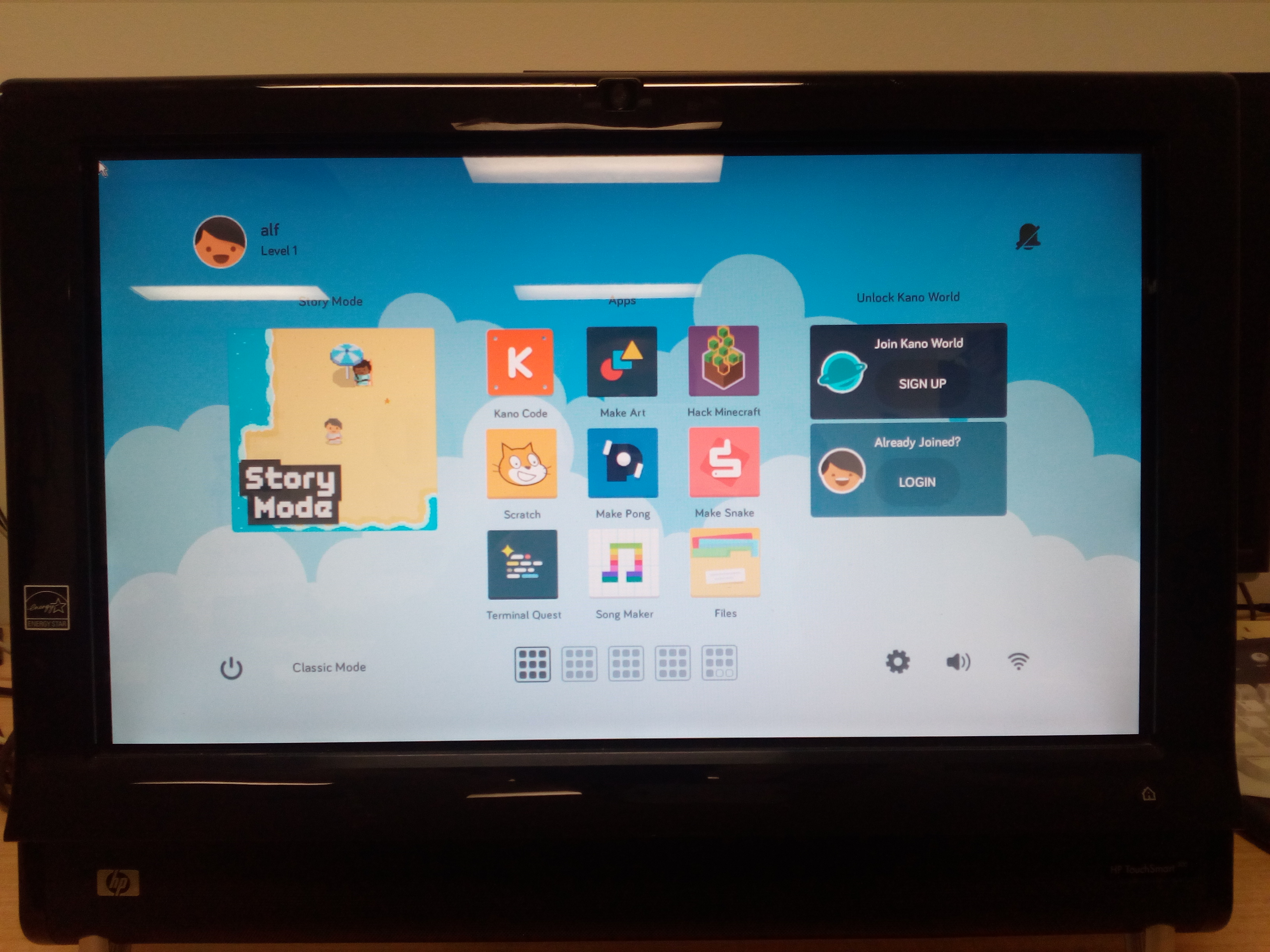 kano touchscreen