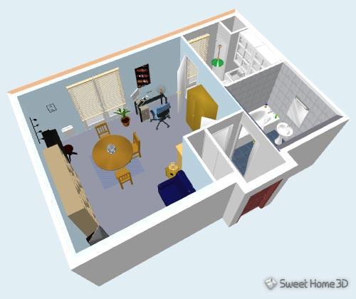 Sweet home 3d render view