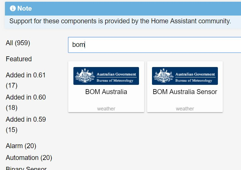 BOM Weather Data Home Assistant