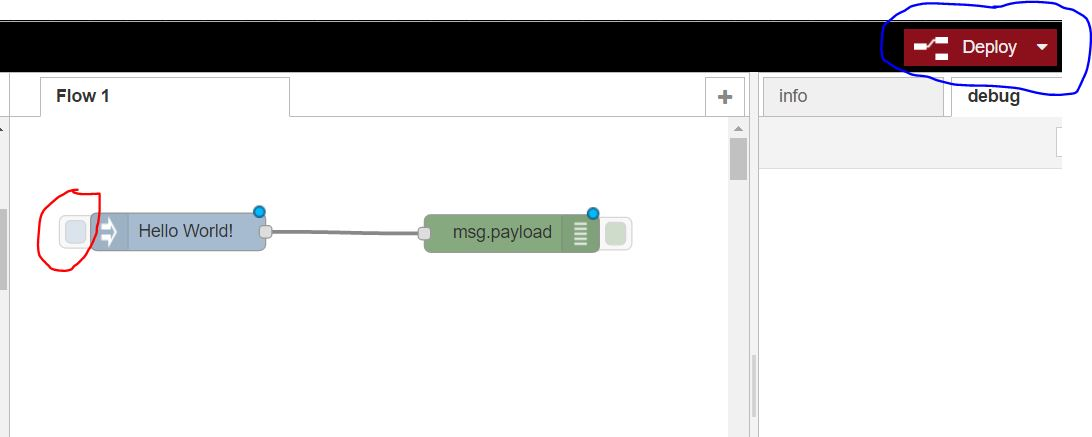 Example flow NodeRED