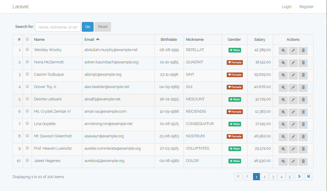 GitHub - ratiw/vuetable-2-with-laravel-5 4: Sample project