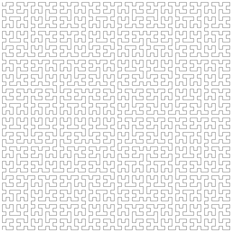 Hilbert Curve Example Image