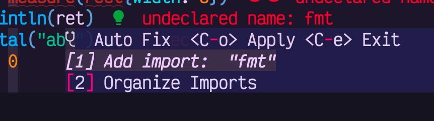 code actions