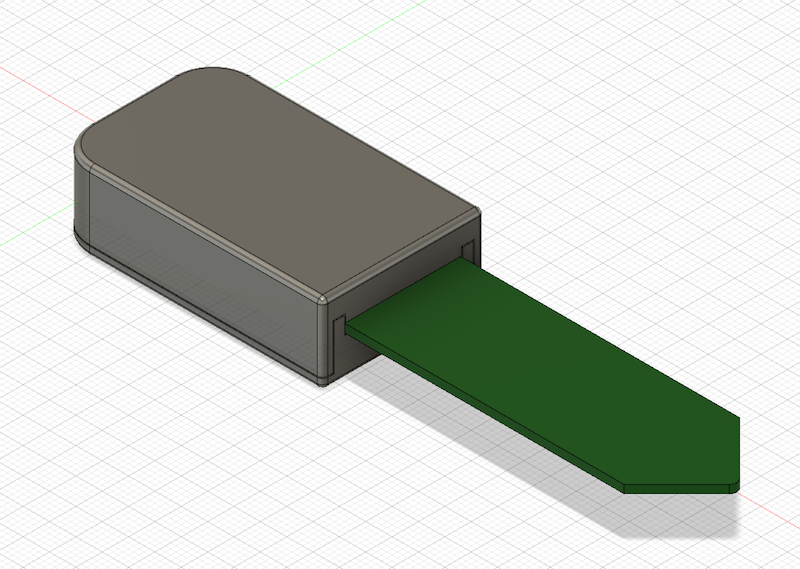 Render of the 3D printable case
