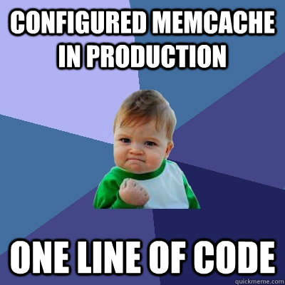 Deploying memcached is easy