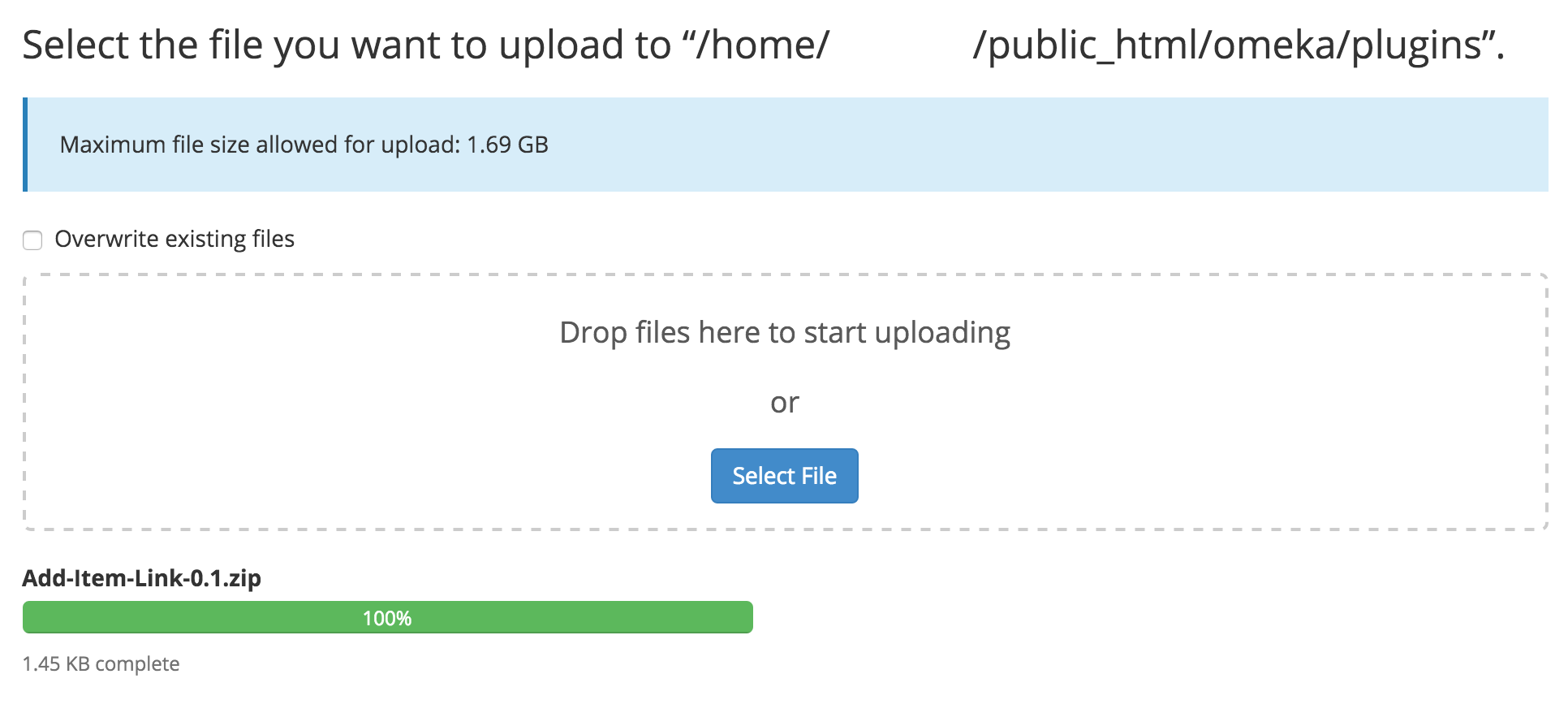 Upload File Interface