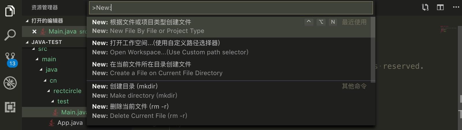 通过命令面板或快捷键打开扩展