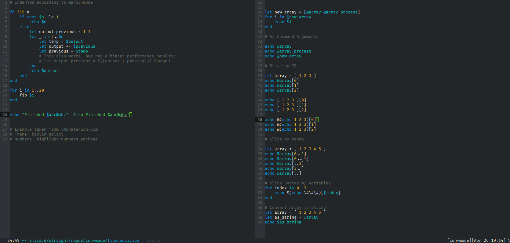 Emacs Syntax Highlighting