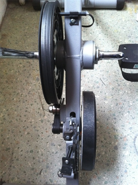 Stationary bike's reed switch and magnetic brake