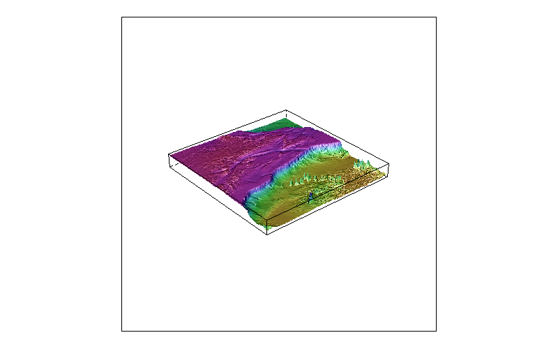 Image shaded 3d bathymetry