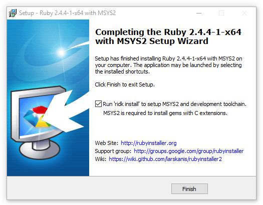 Setupe Select MSYS2