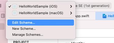 Xcode Open scheme