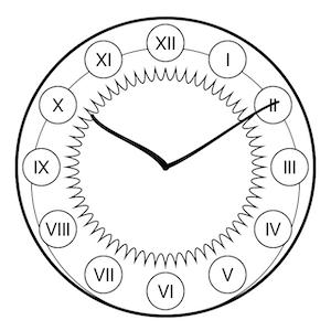 Clock View with Art Nouveau style