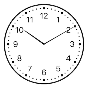 Clock View with Classic style
